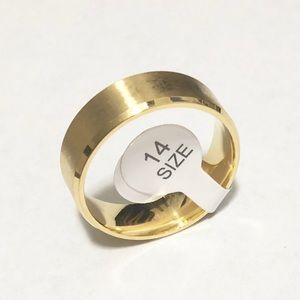 Other - Men's Gold Tone Ring, Size 14 Men's
